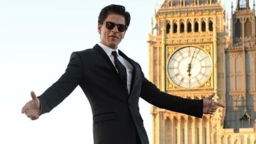 Shah Rukh Khan poses in his signature fashion.