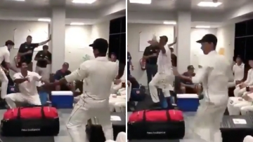 Spin bowler Ish Sodhi and opening batsman Jeet Raval broke into bhangra in the New Zealand dressing room after the win over Pakistan.