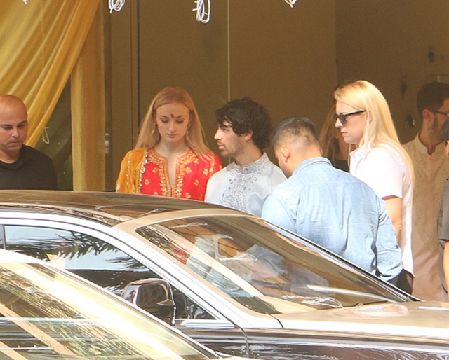 PC's in-laws to be Sophie Turner and Joe Jonas attend the puja.