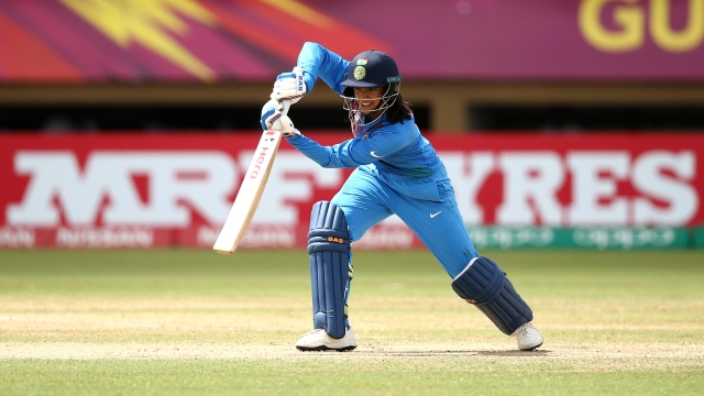 Smriti Mandhana in action at the 2018 Women's World T20.