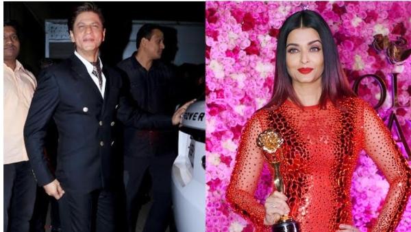 Shah Rukh Khan and Aishwarya Rai Bachchan at the Lux Gold Rose Awards
