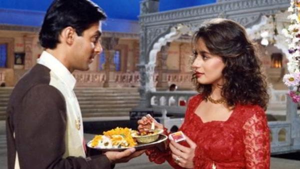 Madhuri Dixit and Salman Khan in <i>Hum Aapke Hai Kaun</i>.