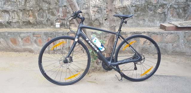 The Trek FX 5 Sport has an all-carbon-fibre frame.