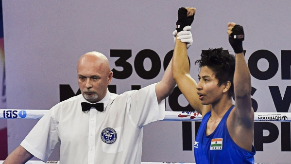 Lovlina Borgohain moved to the semi-final of the Women's World Boxing Championships on Wednesday.