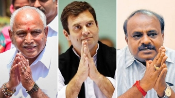 Counting for five constituencies going to bypolls took place in Karnataka on Tuesday, 6 November with the Congress-JD(S) winning four out of five seats.