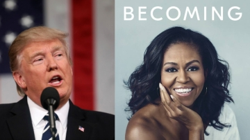 """Former first lady Michelle Obama blasts President Donald Trump in her new book, writing how she reacted in shock the night she learned he would replace her husband in the Oval Office and tried to """"block it all out."""""""