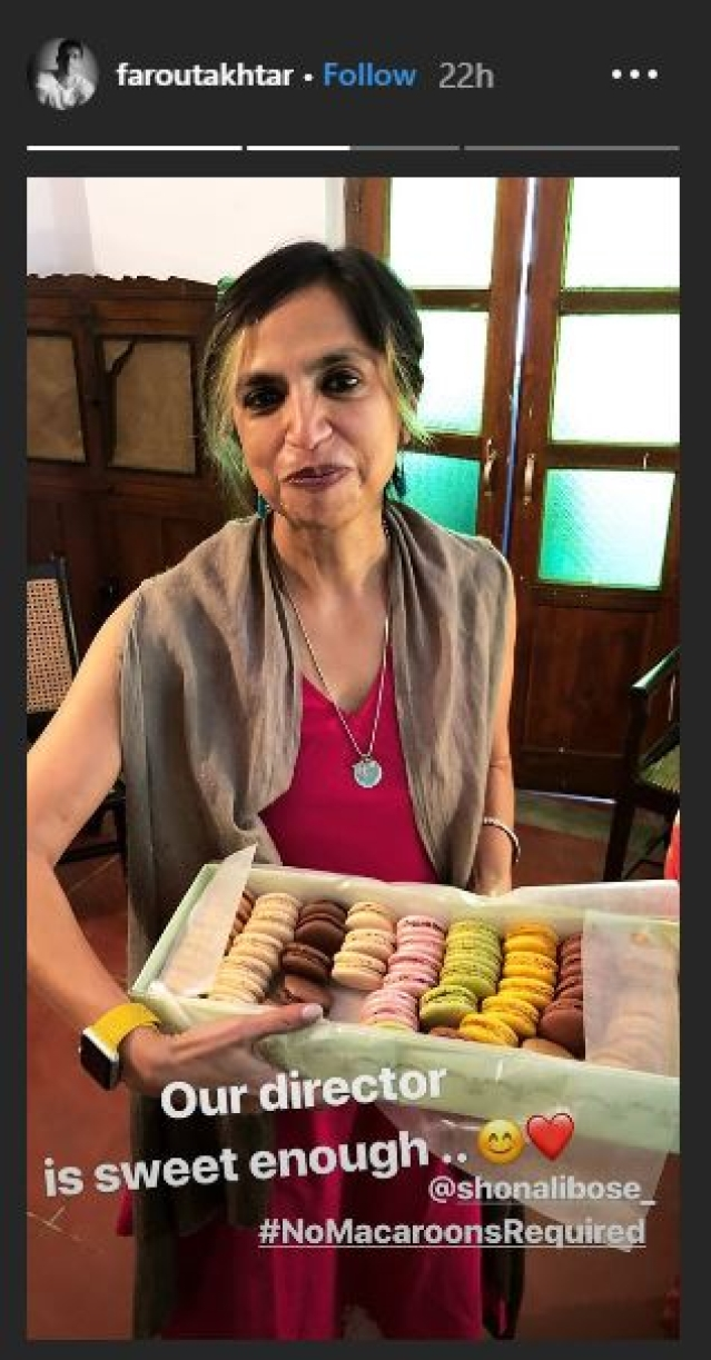 Farhan Akhtar shares a story of PC's macarons.