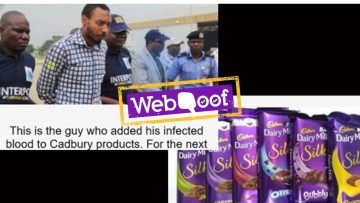A message went viral on social media urging people to avoid buying Cadbury products as they were contaminated with HIV.