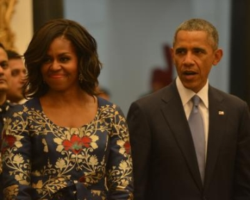 former President Barack Obama and former US First Lady Michelle. (File Photo: IANS/RB)