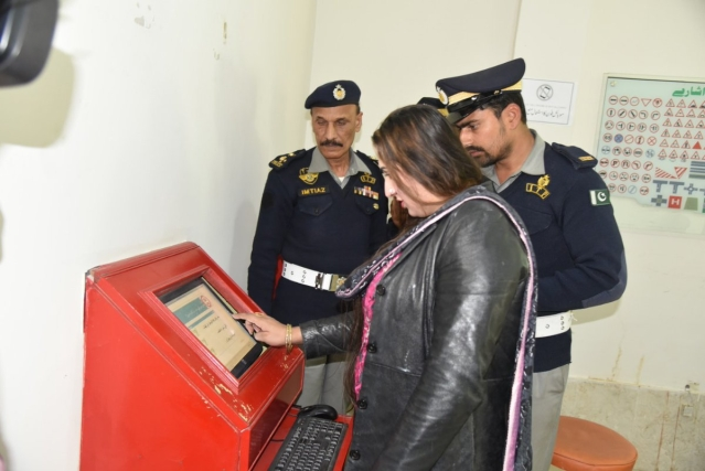 Laila Khan during the procedure of obtaining her driving license.