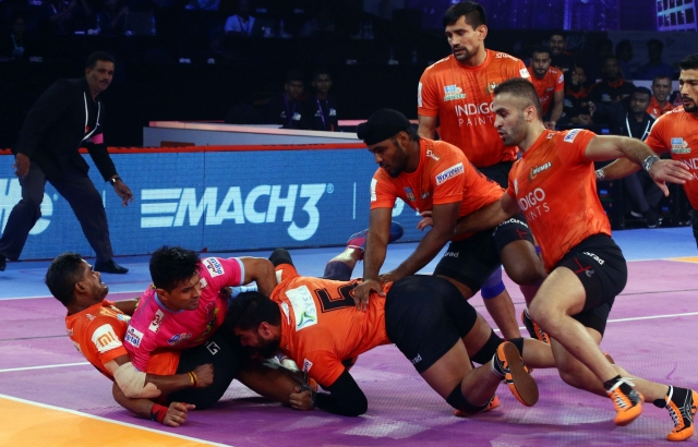 There was no respite for Jaipur in the second half as U Mumba maintained  the same momentum.