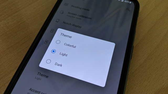 Select between these themes for your phone.