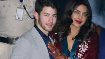 Priyanka Chopra and Nick Jonas arrive in Mumbai for a reception that is reportedly set to be graced by the who's who of B-Town.