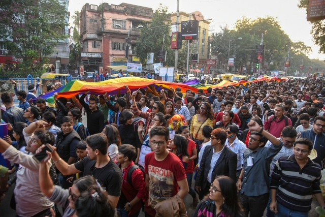 Swarms of people took over the streets of Kolkata for the Rainbow Pride Walk 2018.
