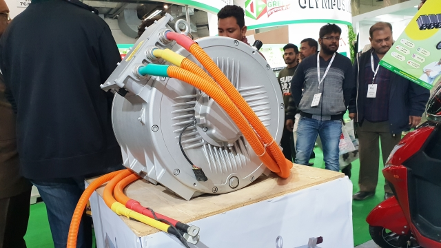The electric motor can range from 1 to 250 kilowatt depending on size of vehicle.