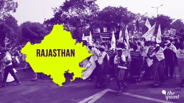 Generic image of farmers' march and the Rajasthan map used for representational purposes only.