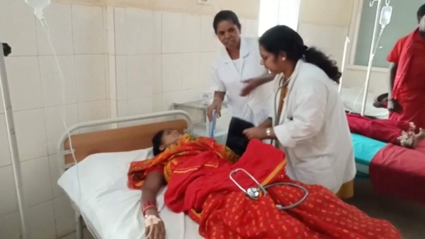 One of the food poisoning victims being treated at a private hospital.
