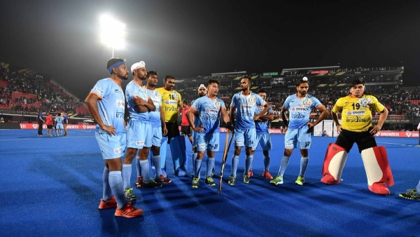 Indian players cut a dejected figure after going down 2-1 to Netherlands in the quarter-finals of the 2018 FIH Men's Hockey World Cup.