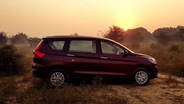 The 2018 Maruti Ertiga is longer and wider than before.