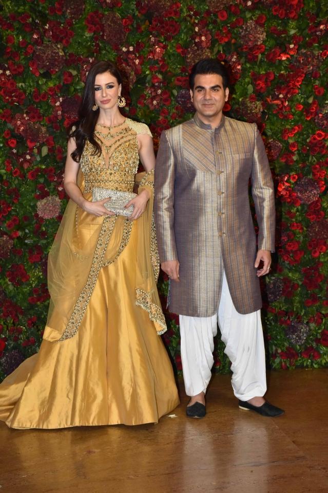 Arbaaz Khan and Giorgia Andriani at the bash.