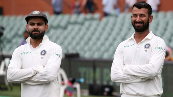 Virat Kohli maintained top spot in the ICC Test rankings despite low scores at Adelaide, match-winner Cheteshwar Pujara climbed two spots to fourth.