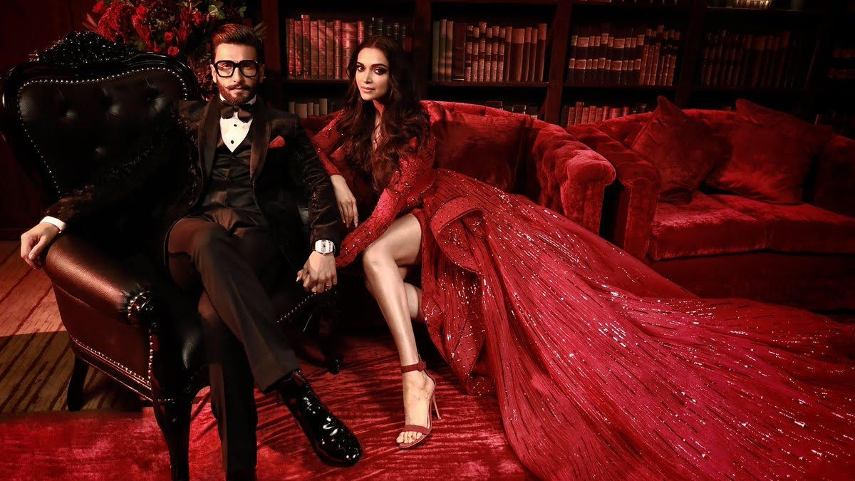 Pics: Deepika and Ranveer Look Ravishing at Their Bollywood Party