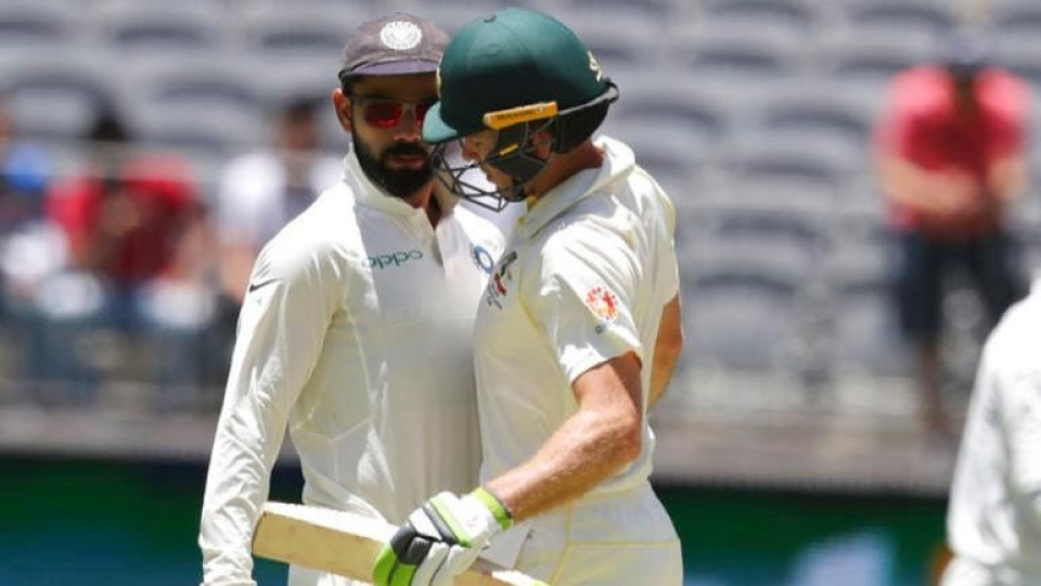 83f8a4242b2 Captains Virat Kohli and Tim Paine kept going at each other during the  second Test between