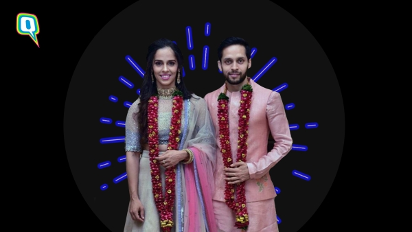 Saina and Parupalli- the newly-weds.