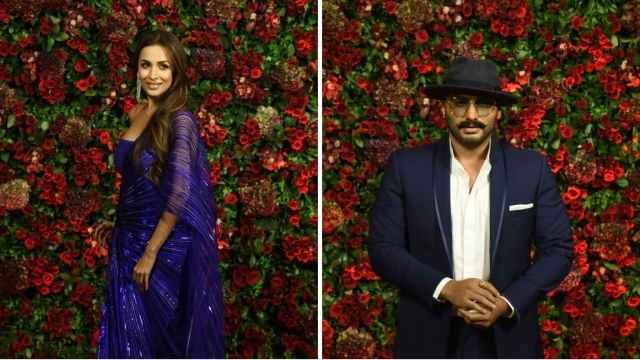 Malaika Arora and Arjun Kapoor did NOT arrive fot the bash together.