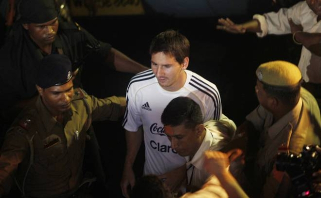 Lionel Messi's only visit to India came in August 2011, when Argentina played a friendly against Venezuela at Kolkata.