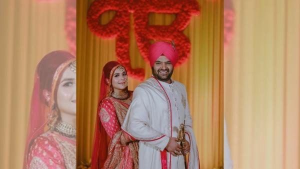 Kapil Sharma and Ginni Chatrath after their Sikh wedding.