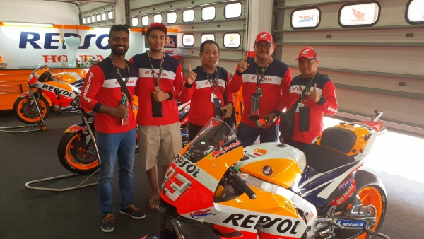 The Repsol Edition RC213V which is Moto GP champion Marc Marquez's motorcycle.