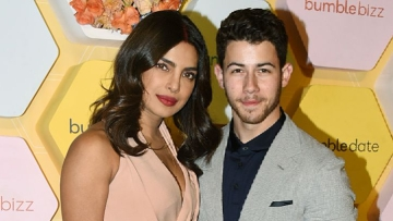 PeeCee and Nick at Bumble's launch event in Delhi.