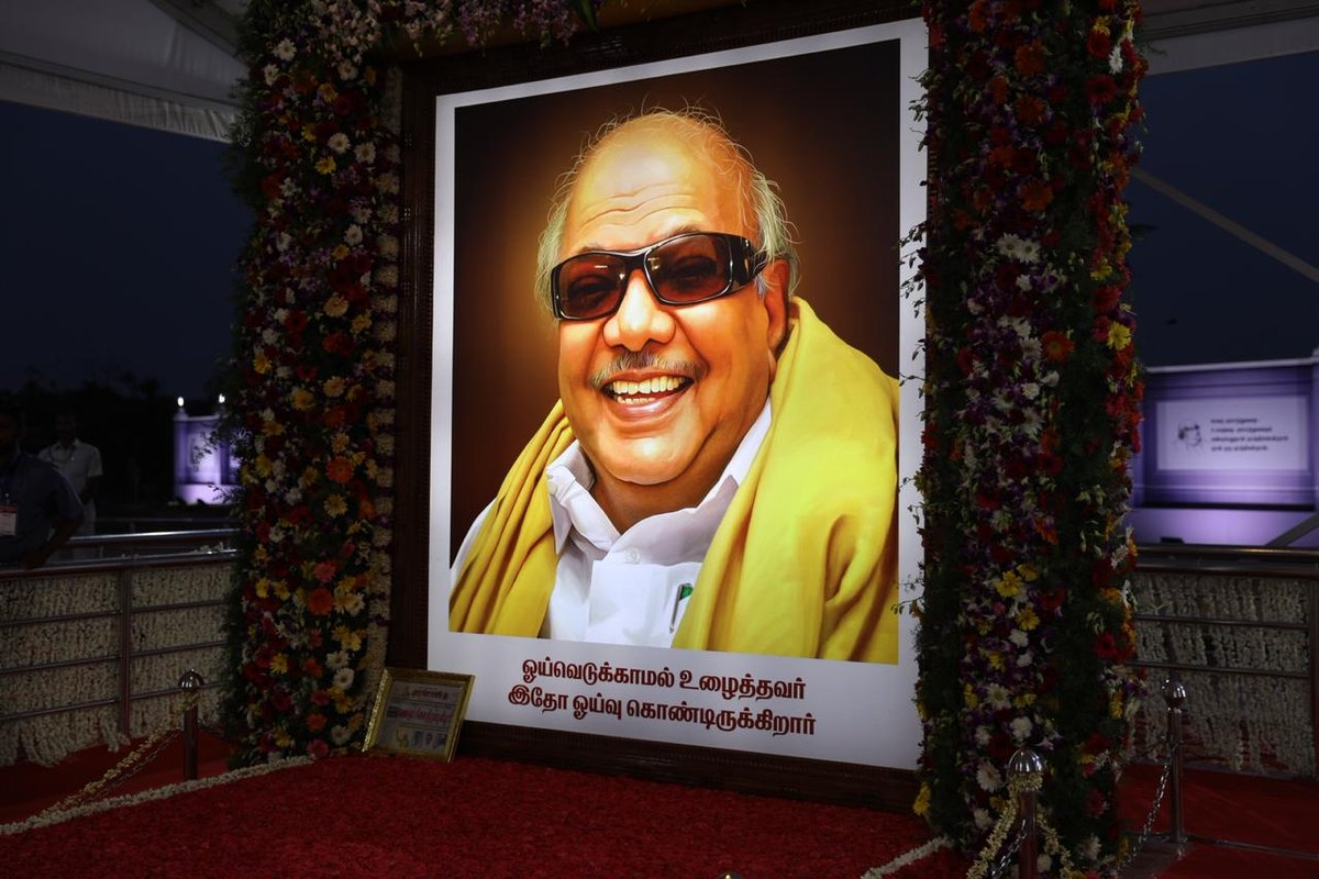 Oppn Leaders to Attend Karunanidhi Statue Inauguration at DMK HQ