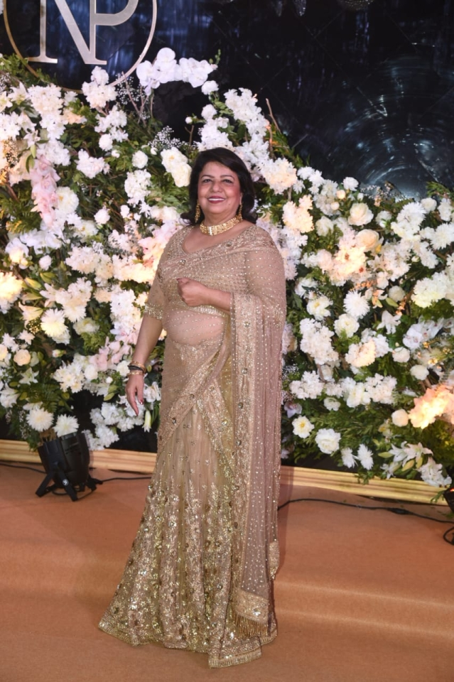 Madhu Chopra arrives for the do.