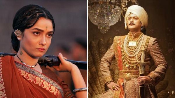 Ankita Lokhande and Jisshu Sengupta in <i>Manikarnika: The Queen of Jhansi.</i>