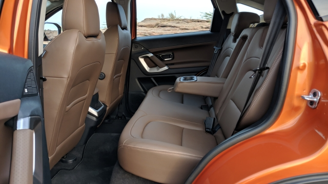 The interiors of the Tata Harrier feel luxurious and spacious.