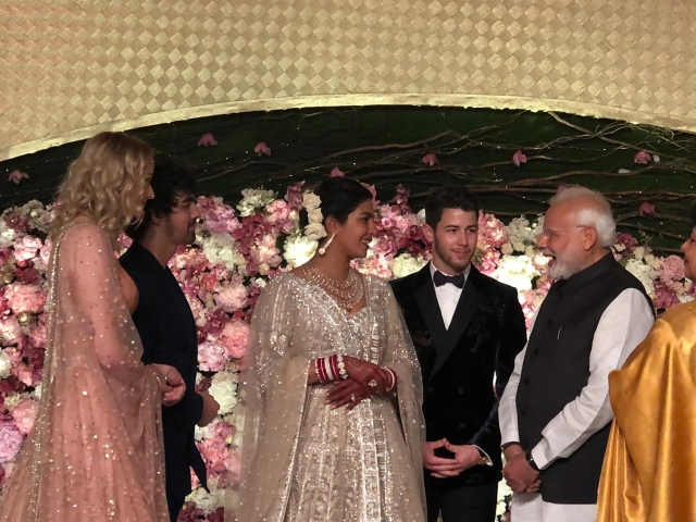 Prime Minister Narendra Modi with NickYanka.
