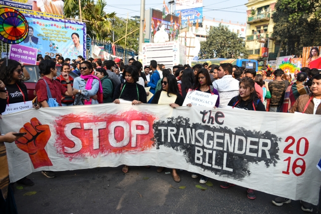 The trans community at the Kolkata Rainbow Pride Walk 2018