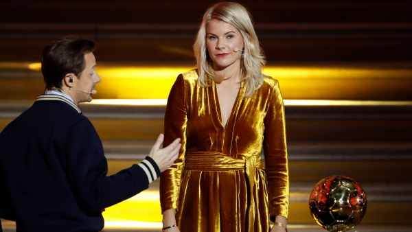 Ada Hegerberg's historic Ballon d'Or award – the first-ever for a woman – was tinged by controversy with presenter and French DJ Martin Solveig (L)asking her to 'twerk'.