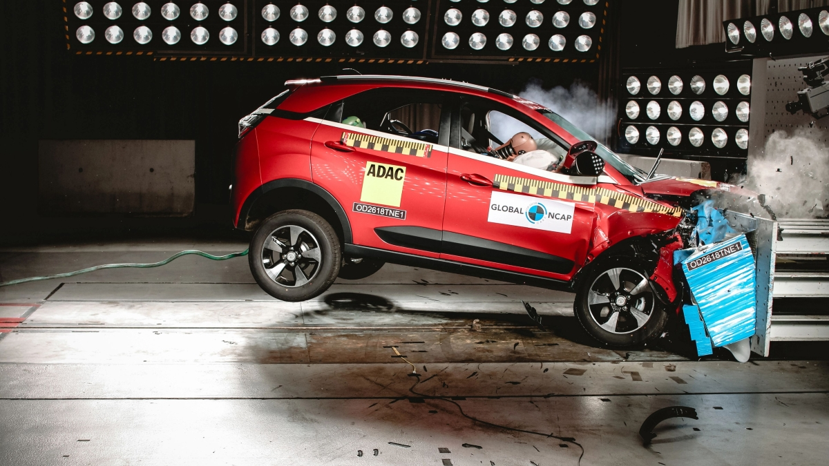 Tata Nexon scores 5 stars in latest Global NCAP crash tests.