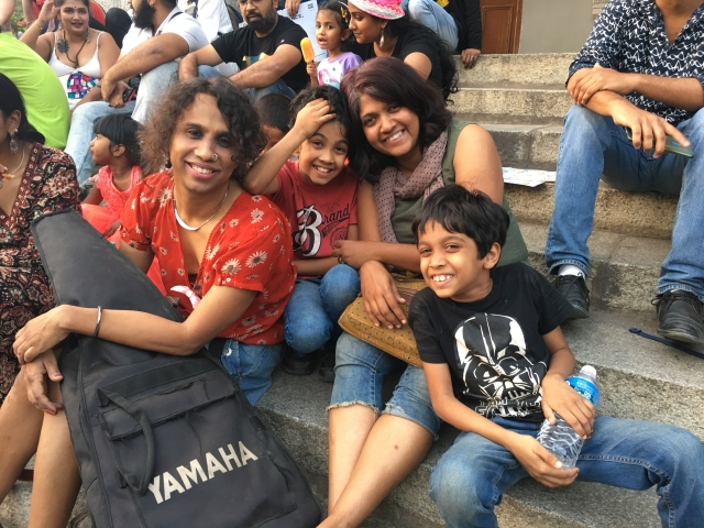 This was the first time that Shakti (left) and Rupa had brought their kids Shaurya and Pranav to the Pride march.