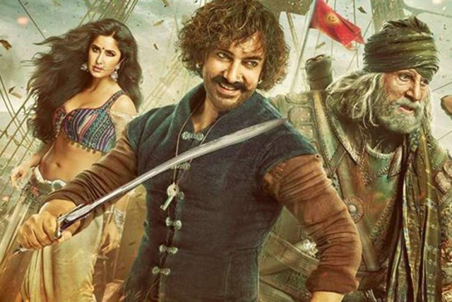 The poster of <i>Thugs of Hindostan</i>.