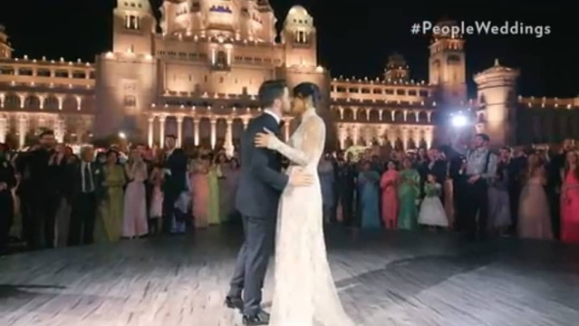 Nick and Priyanka share a tender moment against the backdrop of Umaid Bhawan Palace.
