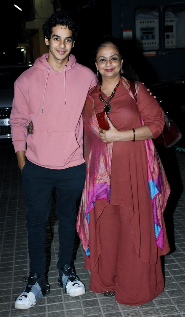 Ishaan Khatter with mom Neelima Azeem.