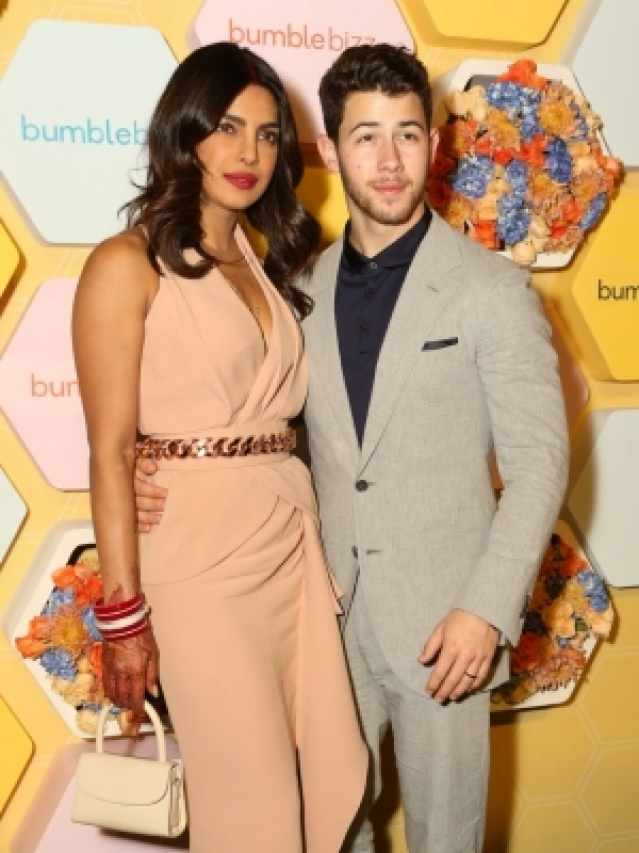 New Delhi: Newlyweds Priyanka Chopra and Nick Jonas during the launch party of her new project dating app Bumble in New Delhi on Dec 5, 2018. (Photo: Amlan Paliwal/IANS)