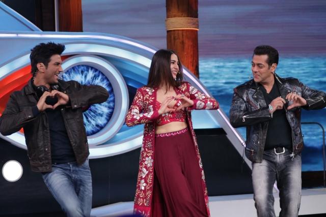 Salman, Sara and Sushant shake a leg.