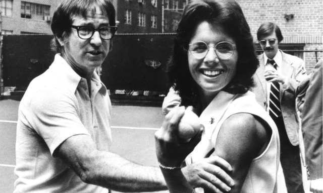 Bobby Riggs (left), 55 and well into retirement, challenged the world's top female tennis players in the 1970s.