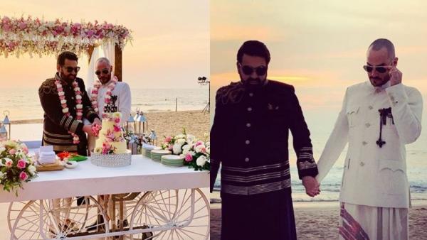Keshav Suri and Cyril Feuillebois celebrate their love in Goa.