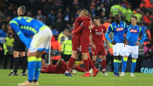 Liverpool secured knockout qualification in the UEFA Champions League with a 1-0 victory over Napoli at Anfield.